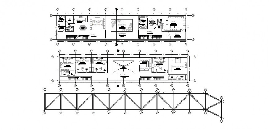 Residential house floor plan drawing details with structure dwg file