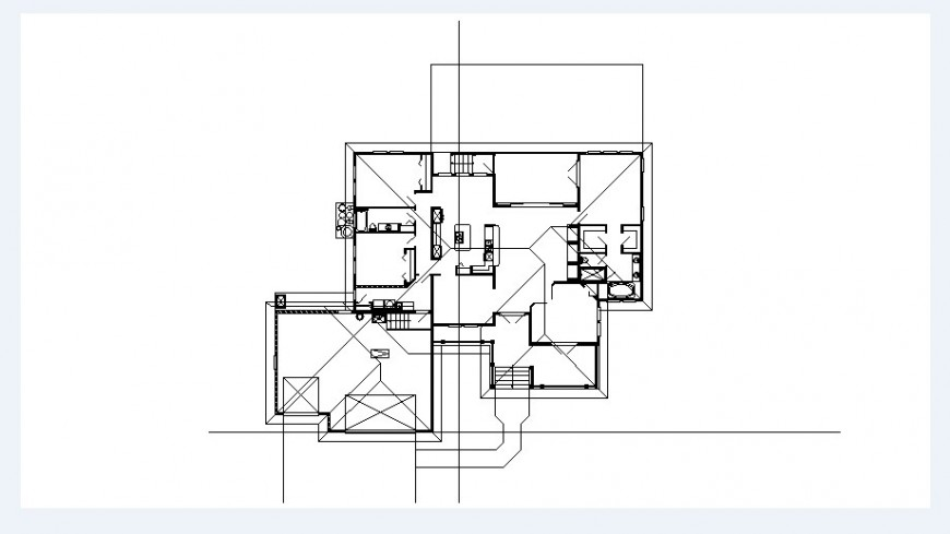 Residential house framing plan and structure details dwg file