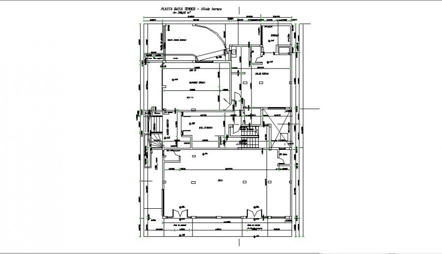 Residential house ground floor layout plan cad drawing details dwg file