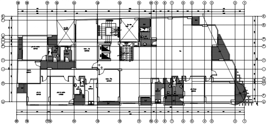 Residential house layout plan with sanitary installation cad drawing details dwg file