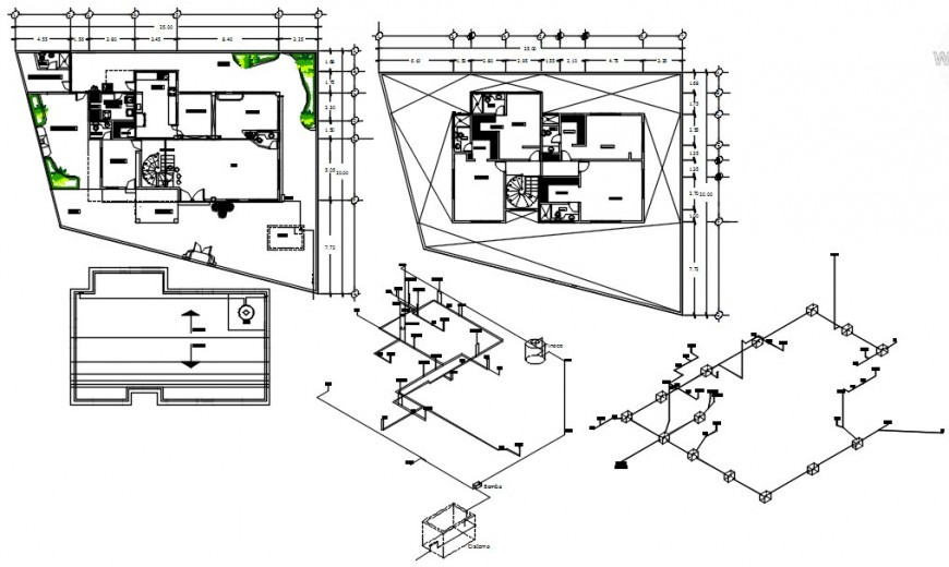 Residential house part elevation autocad software