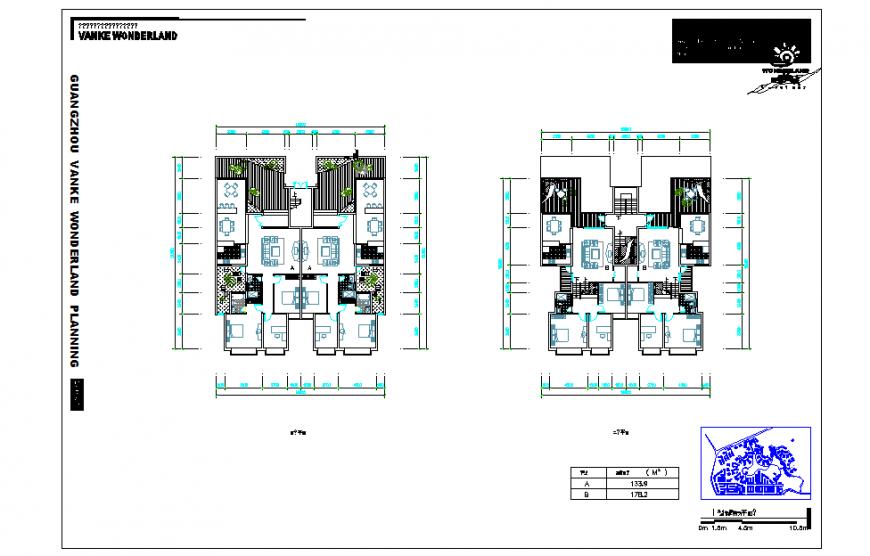 Residential House Plan Design DWG file