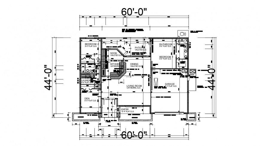 Residential house setting layout plan cad drawing details dwg file