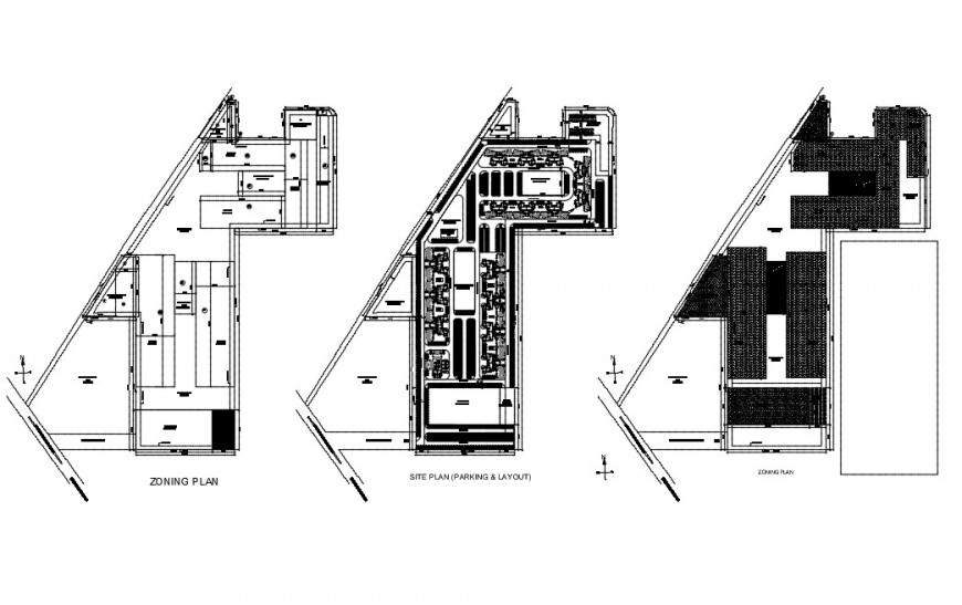 Residential house site plan and zoning plan cad drawing details dwg file