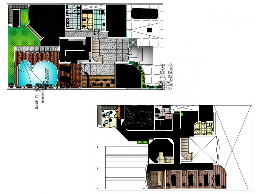 Salon and spa store floor plan distribution cad drawing details dwg file