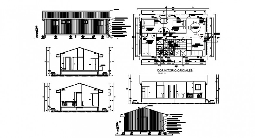 Residential houses for corporate office cad drawing details dwg file