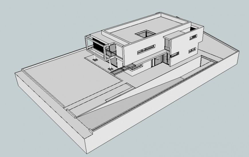 Residential housing blocks detail 3d model drawings details in sketch-up