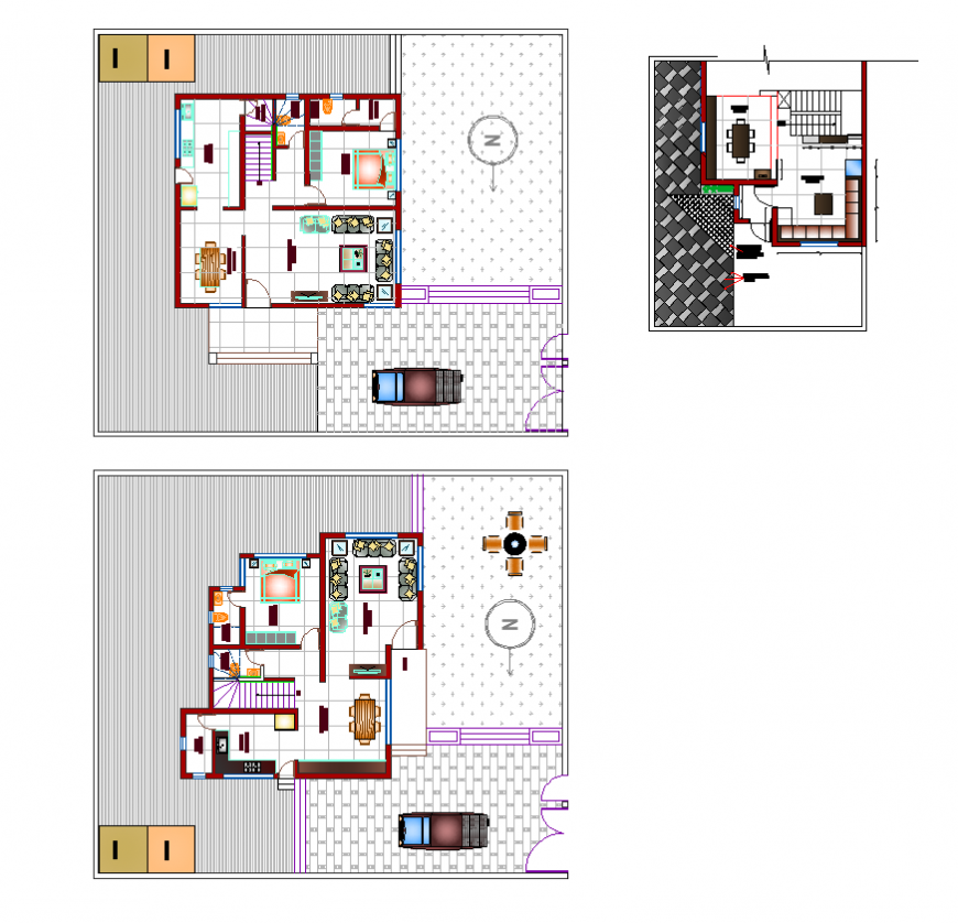 Residential housing building detail layout plan dwg file