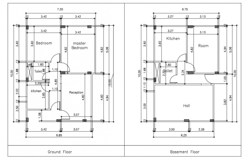 residential housing layout plan cad file