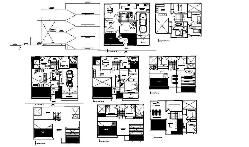 Residential living housing apartment drawings details 2d view autocad file