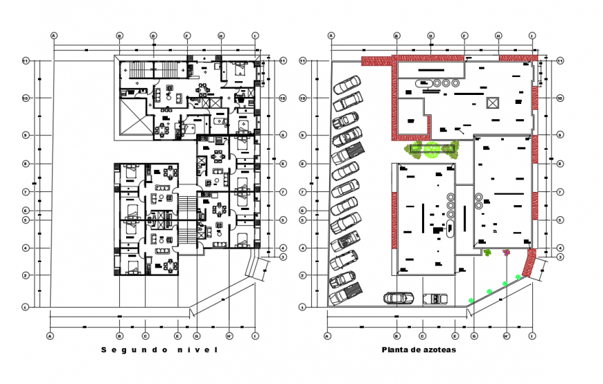 Residential Residency Apartment Lay-out plan Detail