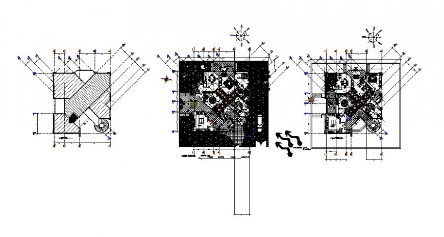 Residential villa drawings detail 2d view work plan autocad software file
