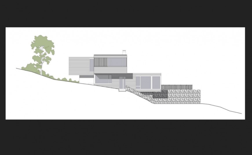 Residential villa on mountain 3d model cad drawing details skp file