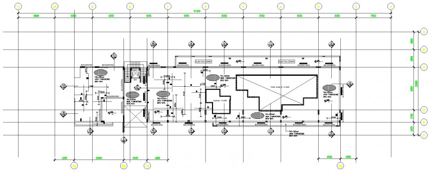 Resort design plan drawing in dwg file.