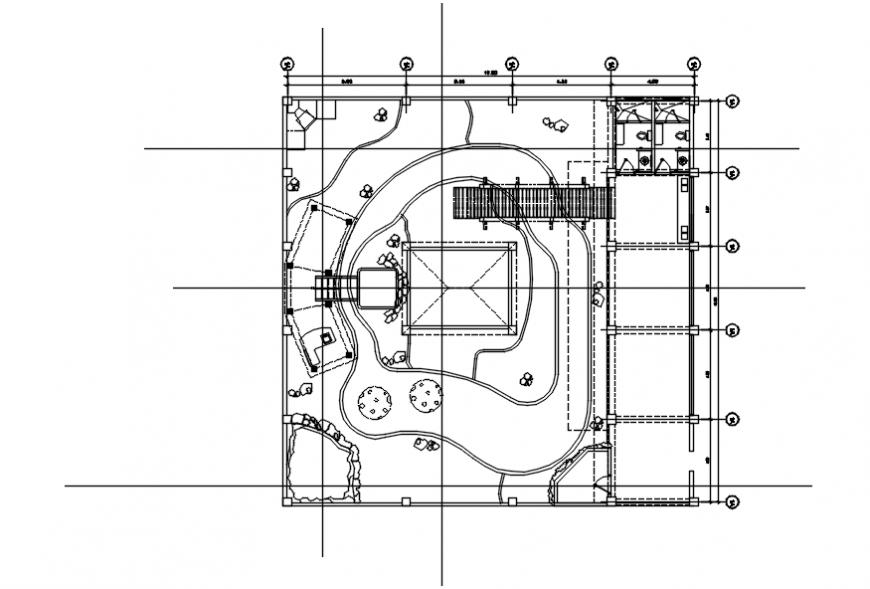 Resort garden landscaping details and equipment details dwg file