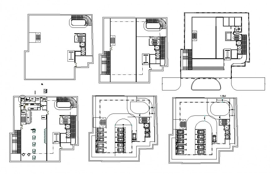 Restaurant building layout plan and floor framing plan cad drawing details dwg file