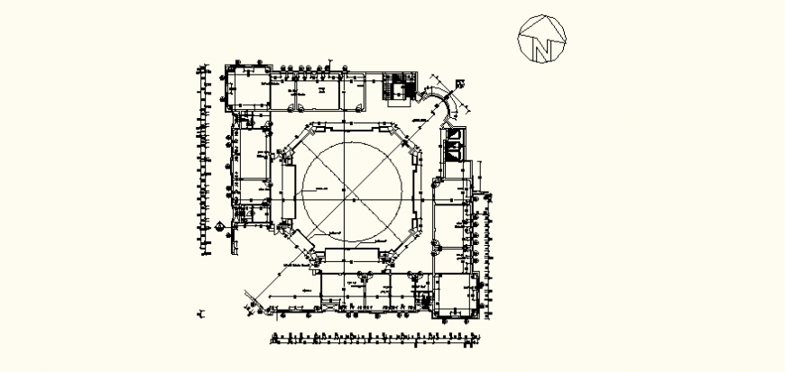 Restaurant detail elevation and plan dwg file