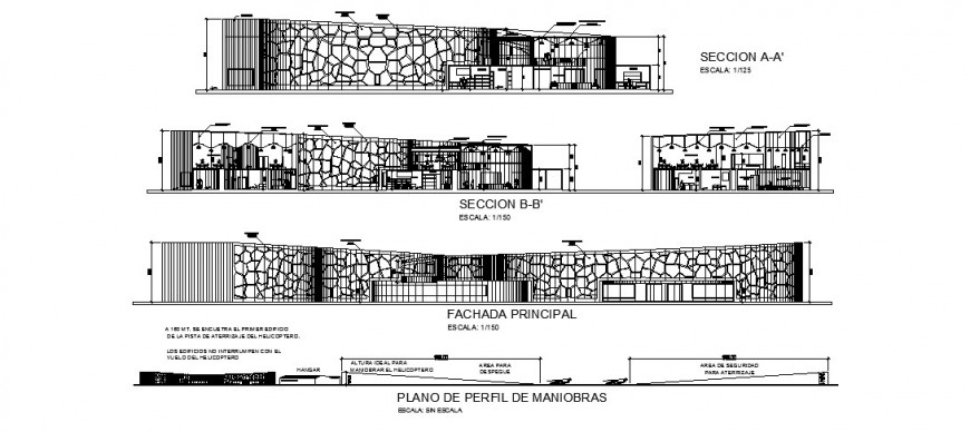 Restaurant elevation detail drawing in dwg AutoCAD file.