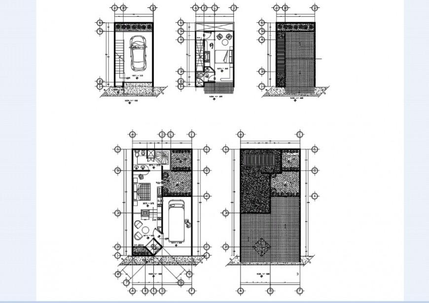 Restaurant floor plan in AutoCAD file
