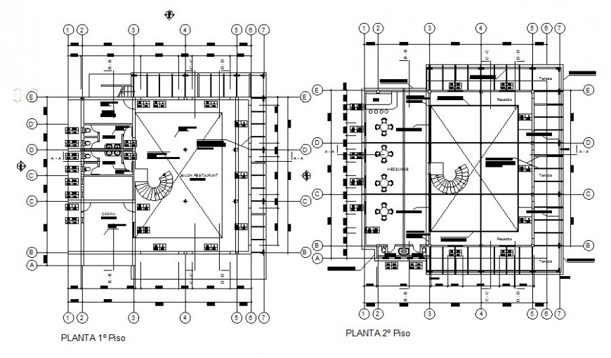 Restaurant floor plan with sanitary installation cad drawing details dwg file