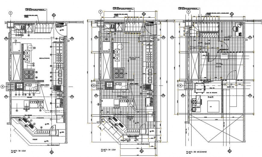 restaurant interior design cad project detail