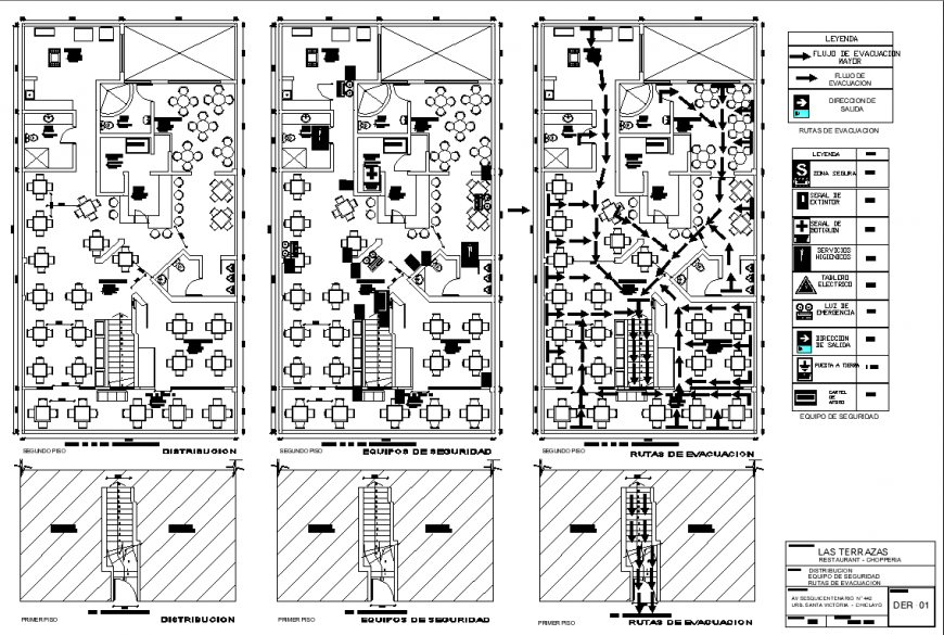 Restaurant layout and services layout drawing in dwg AutoCAD file.