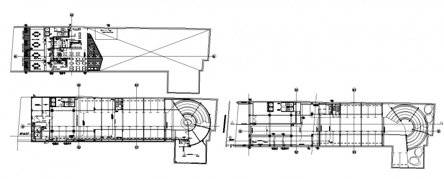Restaurant of hotel layout plan and structure cad drawing details dwg file
