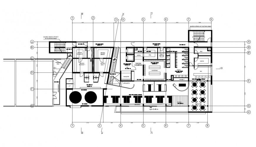 Restaurant plan in auto cad software