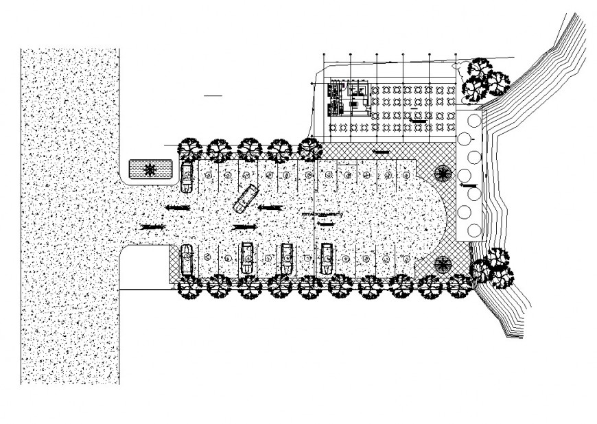 Restaurant structure detail plan 2d view CAD construction layout file in dwg format