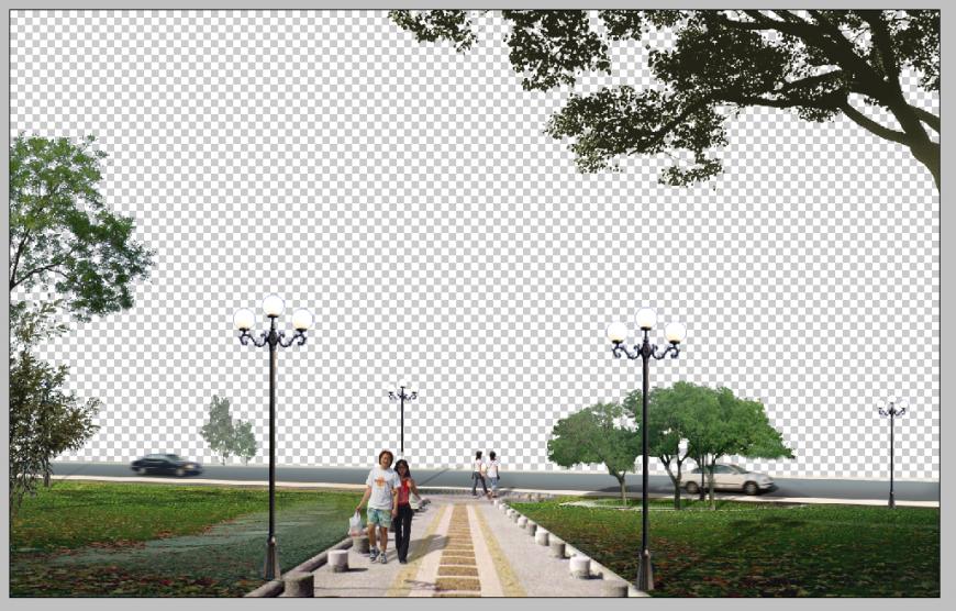 Road detail elevation 3d model photo shop file