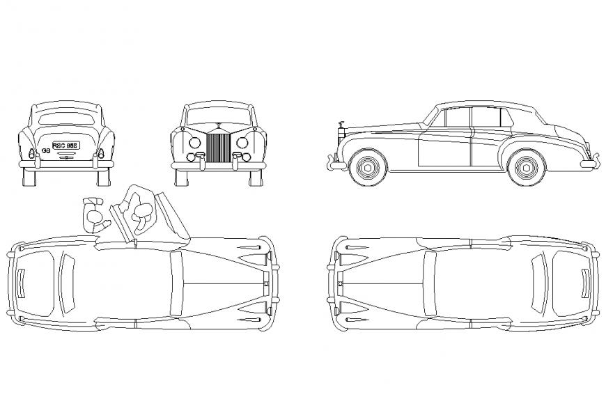 Rolls Royce silver cloud layout file