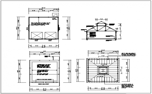 roof plan detail, site plan in the north direction, floor plan details, naming od the all details of dimensio