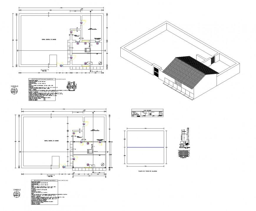 Roof Bird house plan dwg file