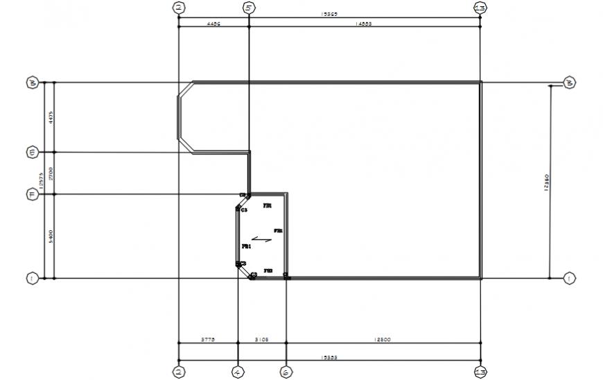 Roof framing plan cad file