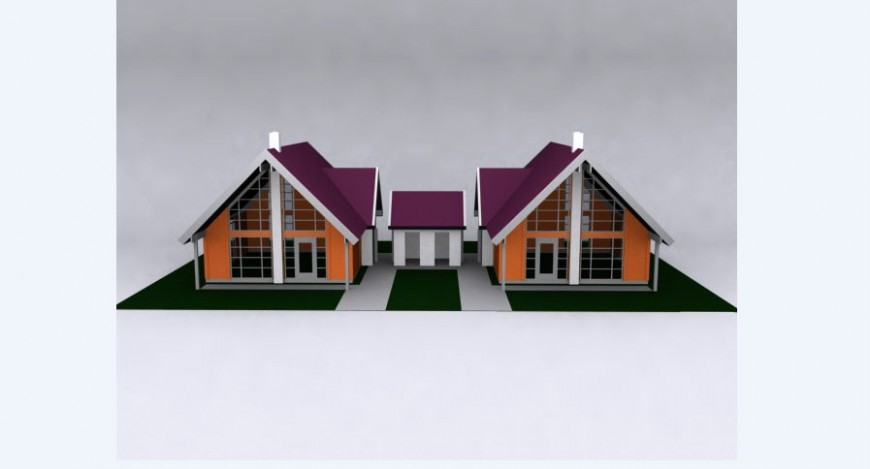 Roof house details 3d model drawing 3d max file