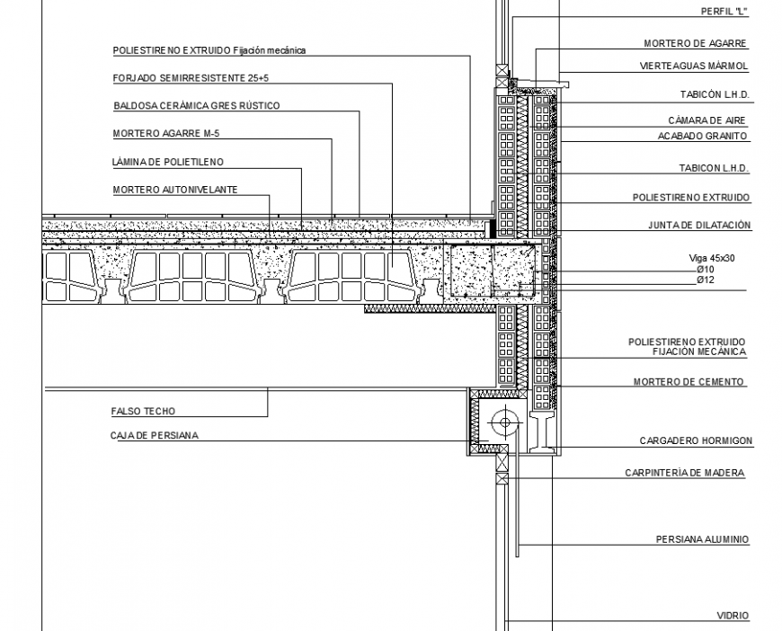 Roof joinery construction details in dwg file.