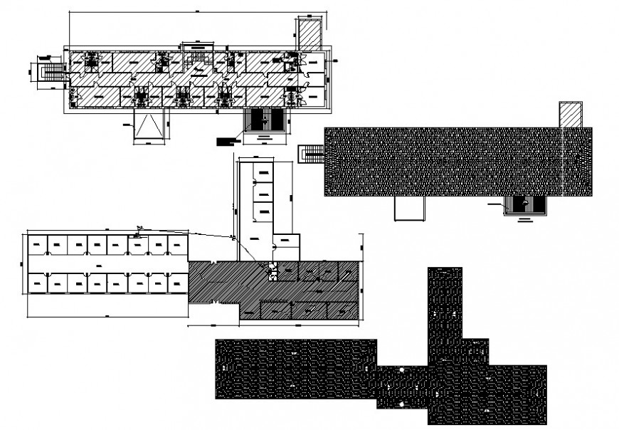 Roof plan of clinic project cad file