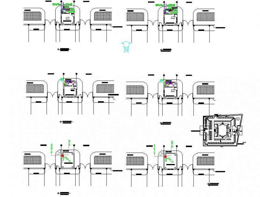 Room detail plan 2d view CAD block layout file in autocad format