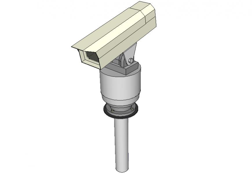 Rotating CCTV 3 d modal autocad file