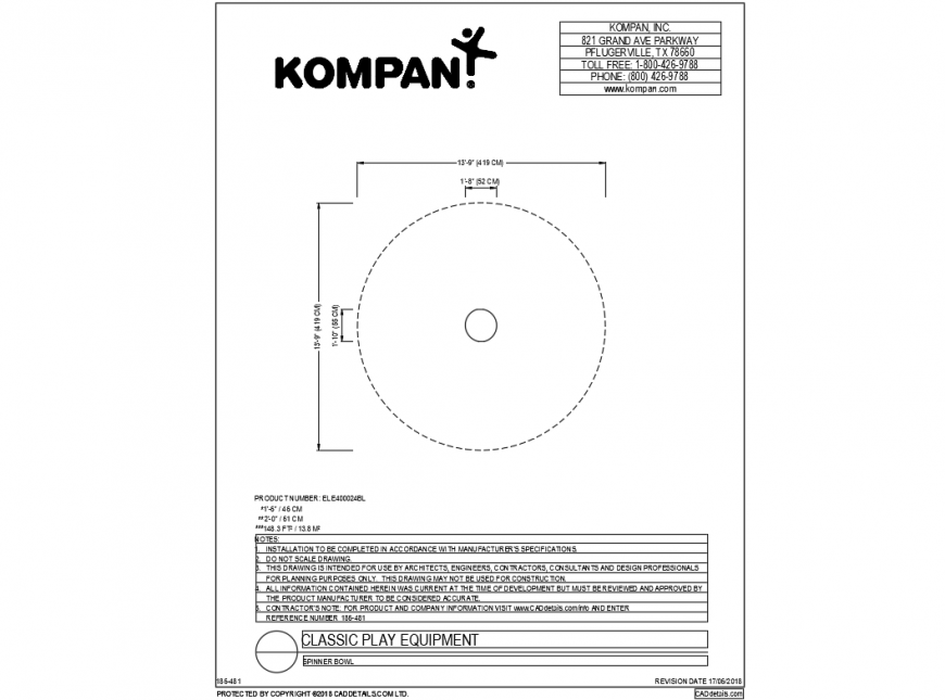 Round shape mini classical equipment cad drawing dwg file