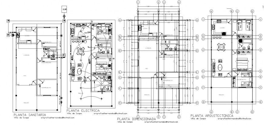 Row house detail layout plan drawing in dwg AutoCAD file.