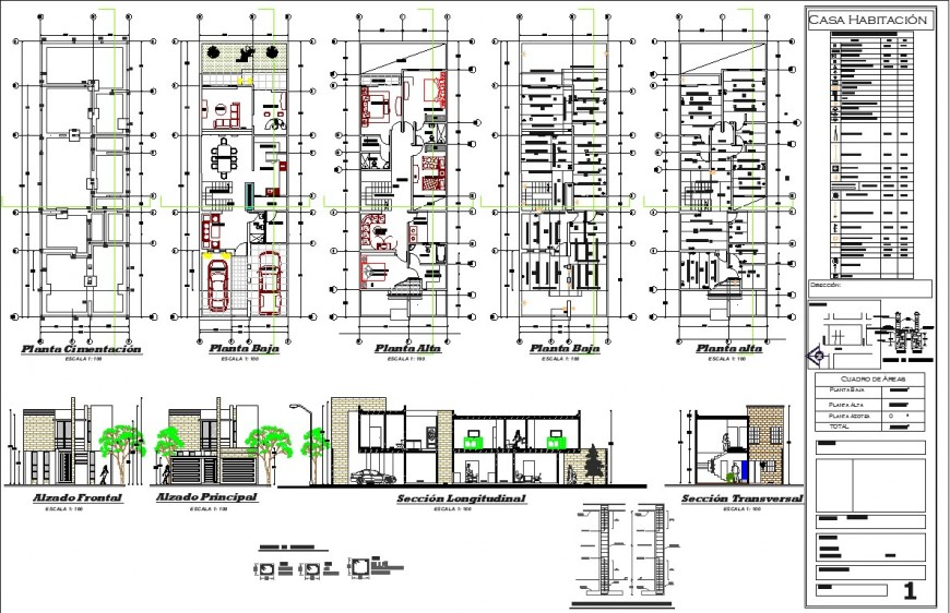 Row house duplex detail layout plan and elevation drawing in dwg AutoCAD file.