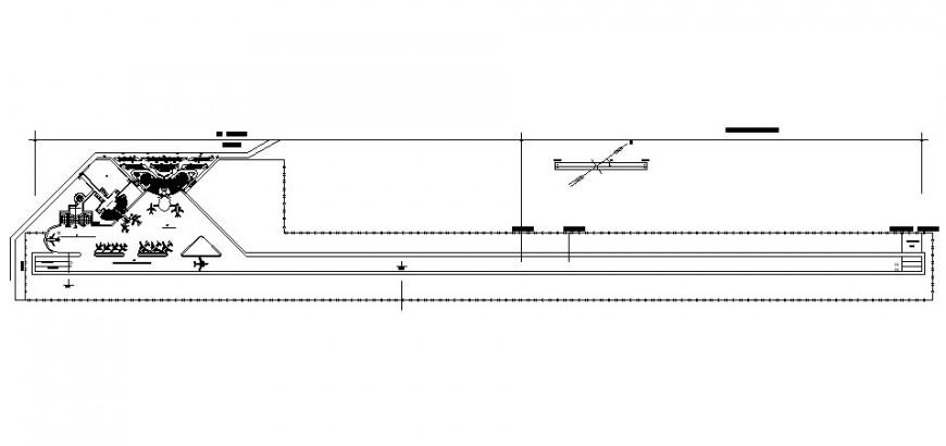 Runway plan detail drawing in dwg AutoCAD file.