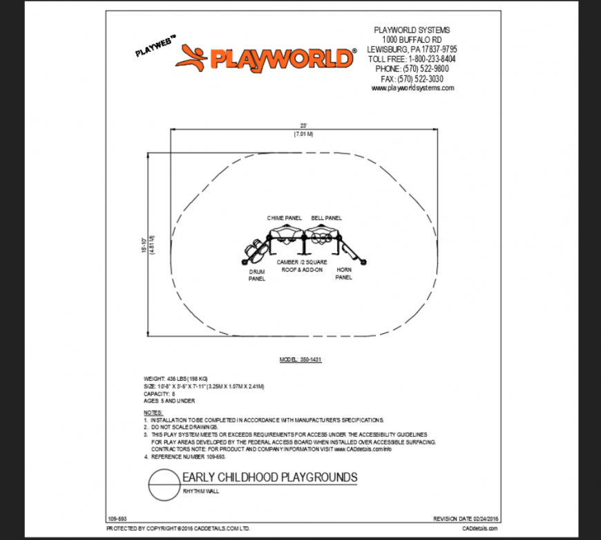 Ry-them wall climber rock play equipment details of theme park dwg file