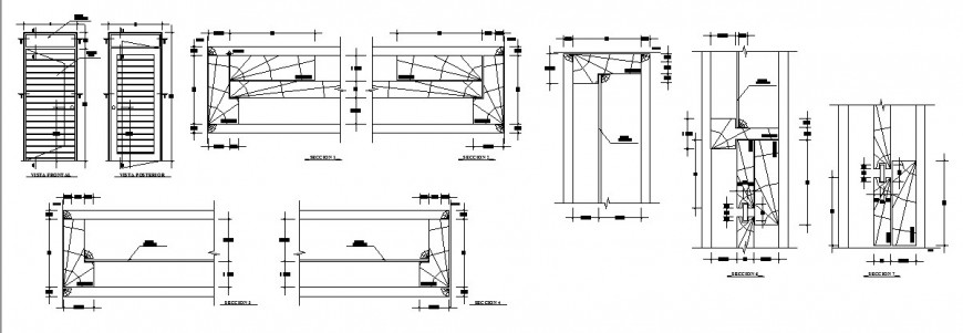 Safety door detail drawing in dwg AutoCAD file.