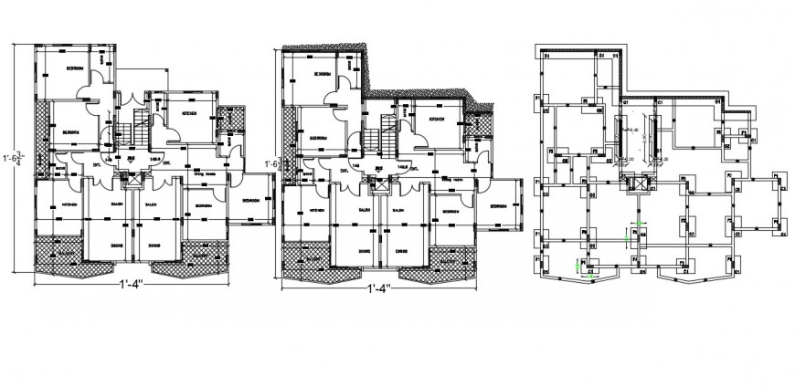 Salon floor house plan autocad software