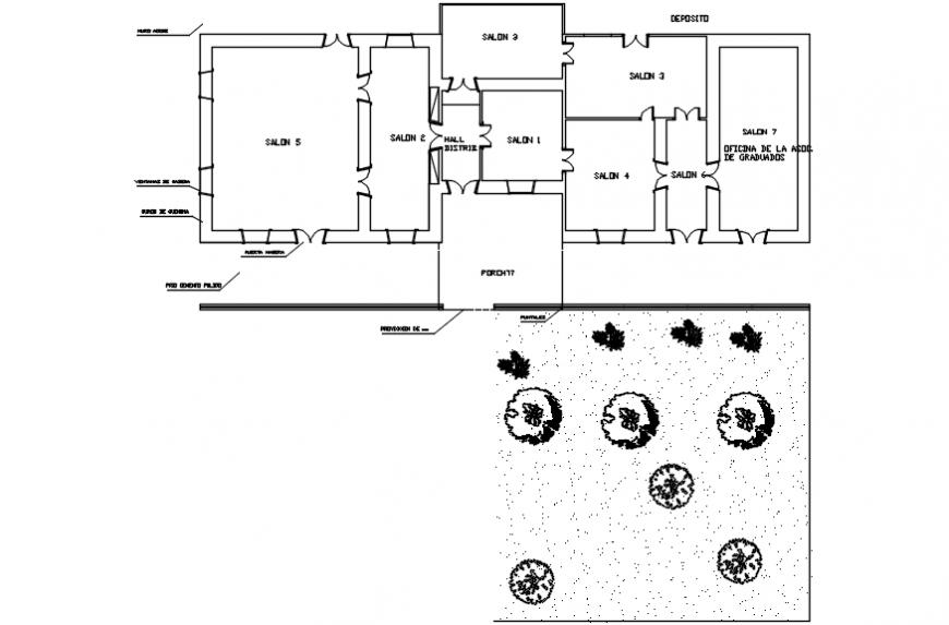 Salon layout plan layout plan autocad file