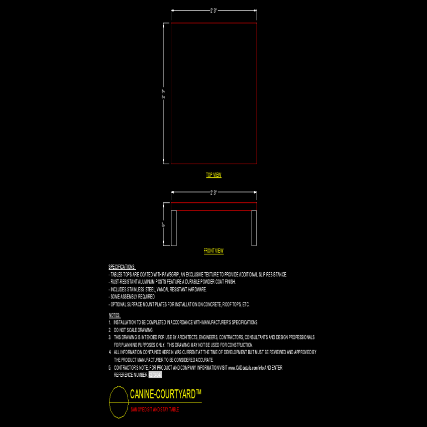 Sam oyed sit and stay table dwg file