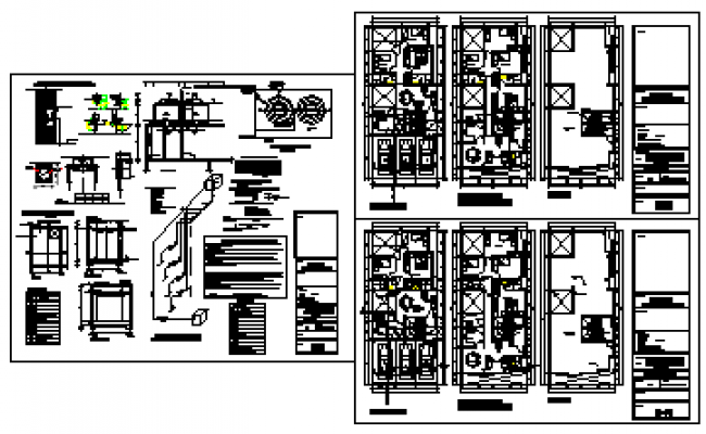 sanitary facilities installation of multi family housing design drawing