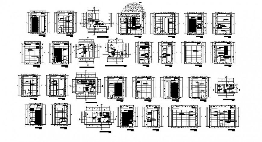 Sanitary bathroom block detail plan and elevation autocad file